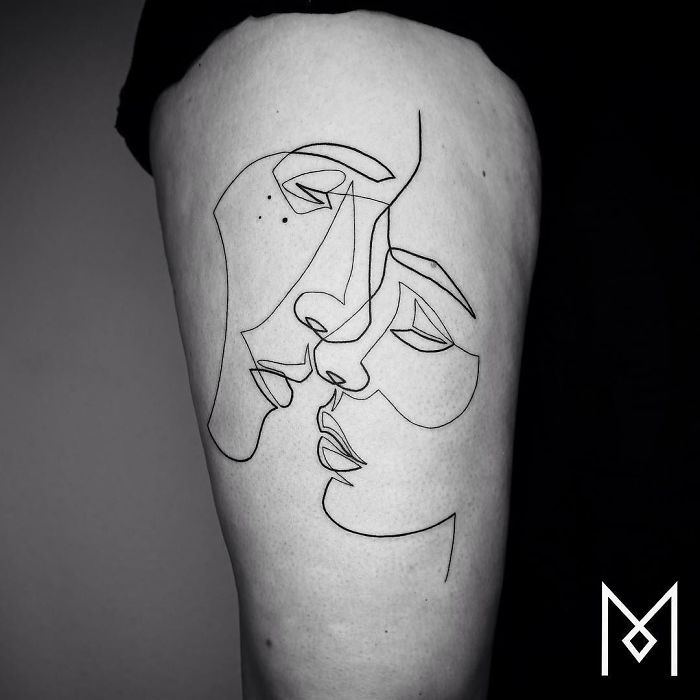 Incredible Art: Singleline Tattoos By Mo Ganji