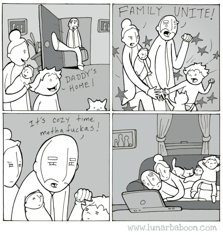 Lunarbaboon Comics: Cute Visualisation Of The Daily Life Issues