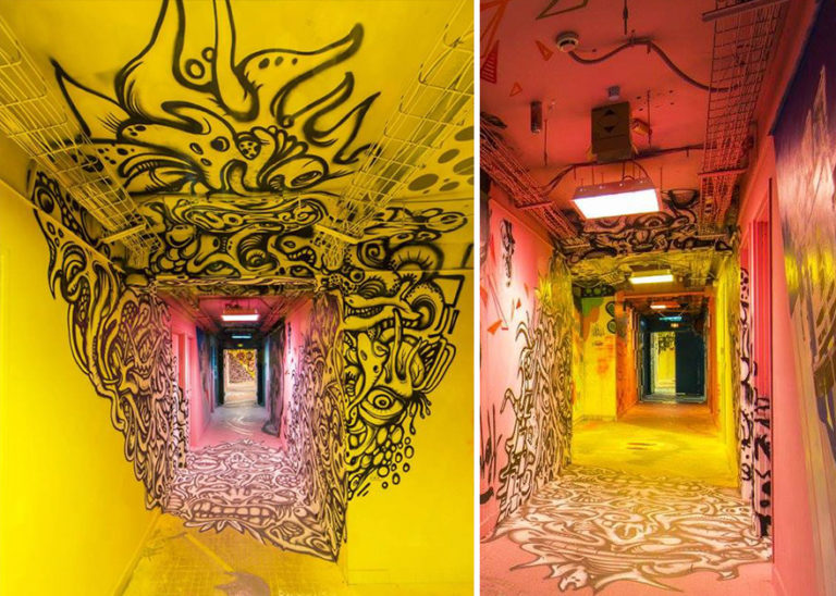 French School Asks Graffiti Artists To Paint It Before Renovation And Here Is The Result