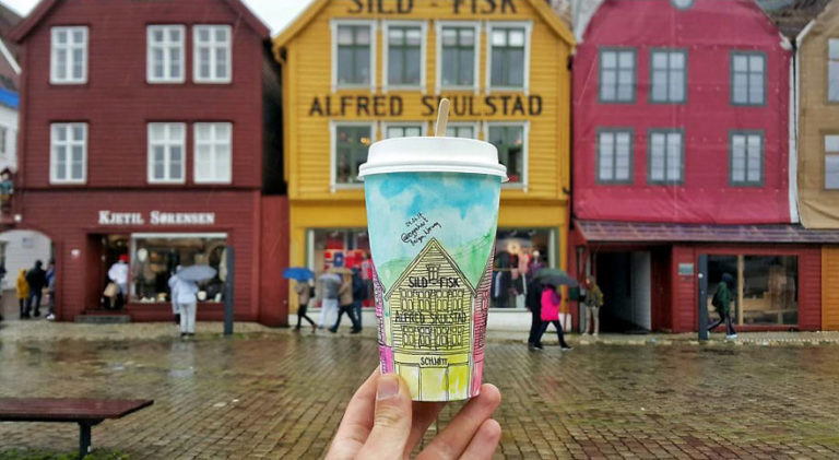 Paper Coffee Cups Art: 10 Creative Works From A Traveler