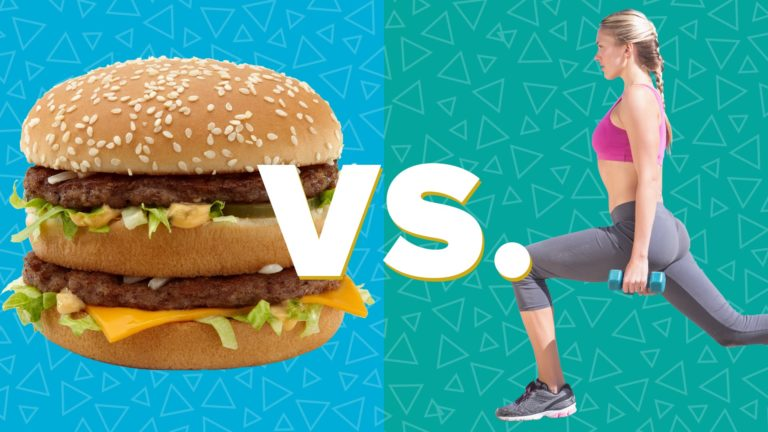 Workout VS Junk Food: Time It Takes To Burn Calories