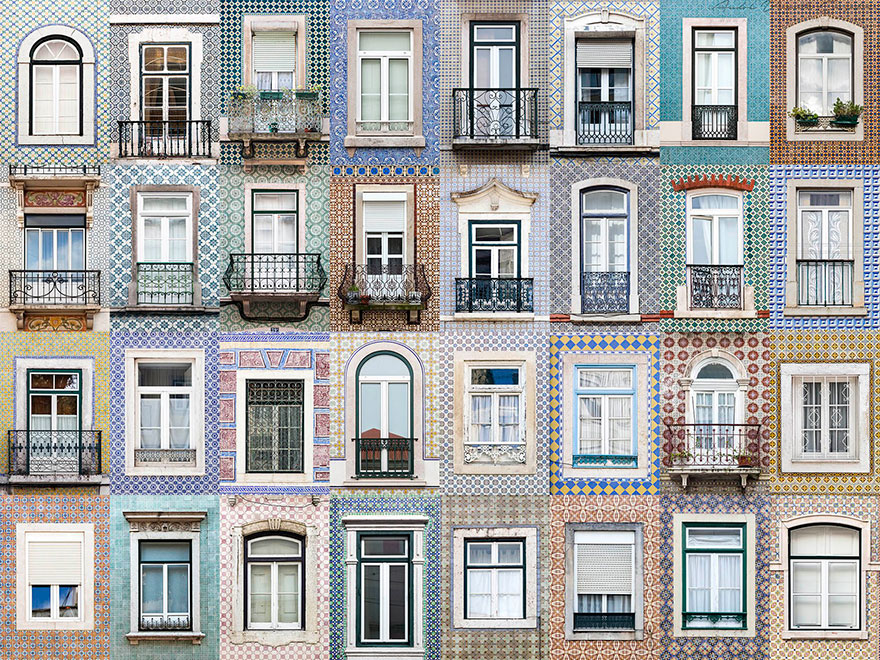 14 Magnificent  Portuguese Windows Collages By Andre Goncalves
