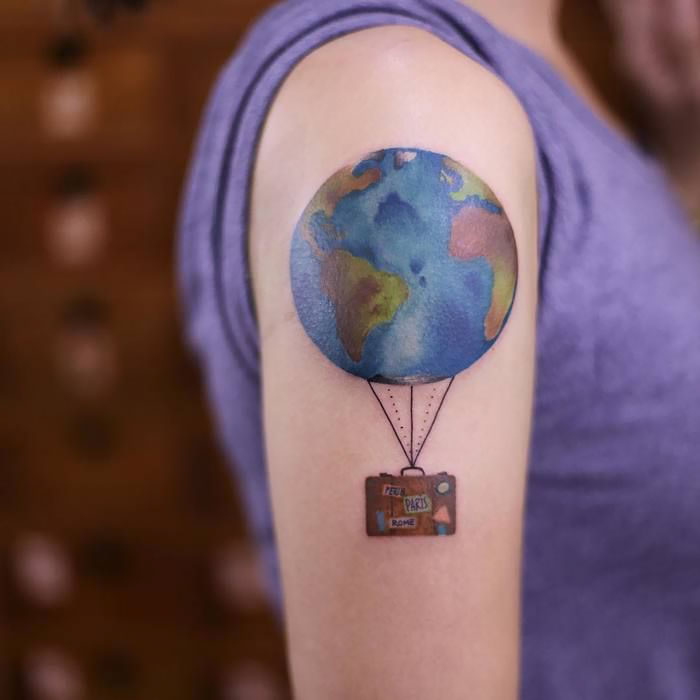Tattoo Art: 10 Adorable Tattoo Ideas For Travel Lovers