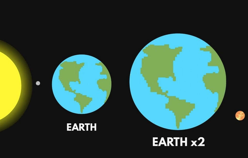 What If The Earth Doubled In Size? (VIDEO)