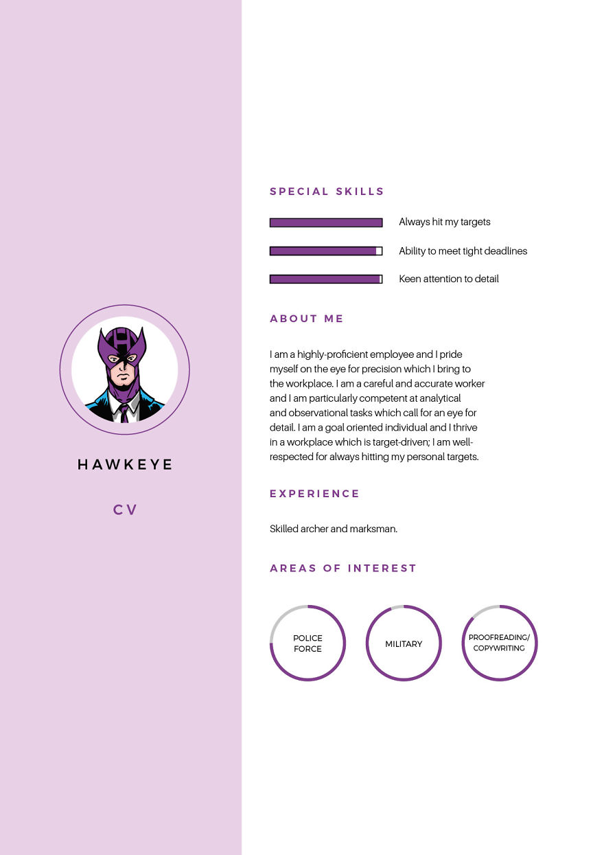 marvel world  how would a superhero cv look like   u2014 mashbox
